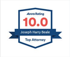 Avvo Rating 10.0 Joseph Harry Beale